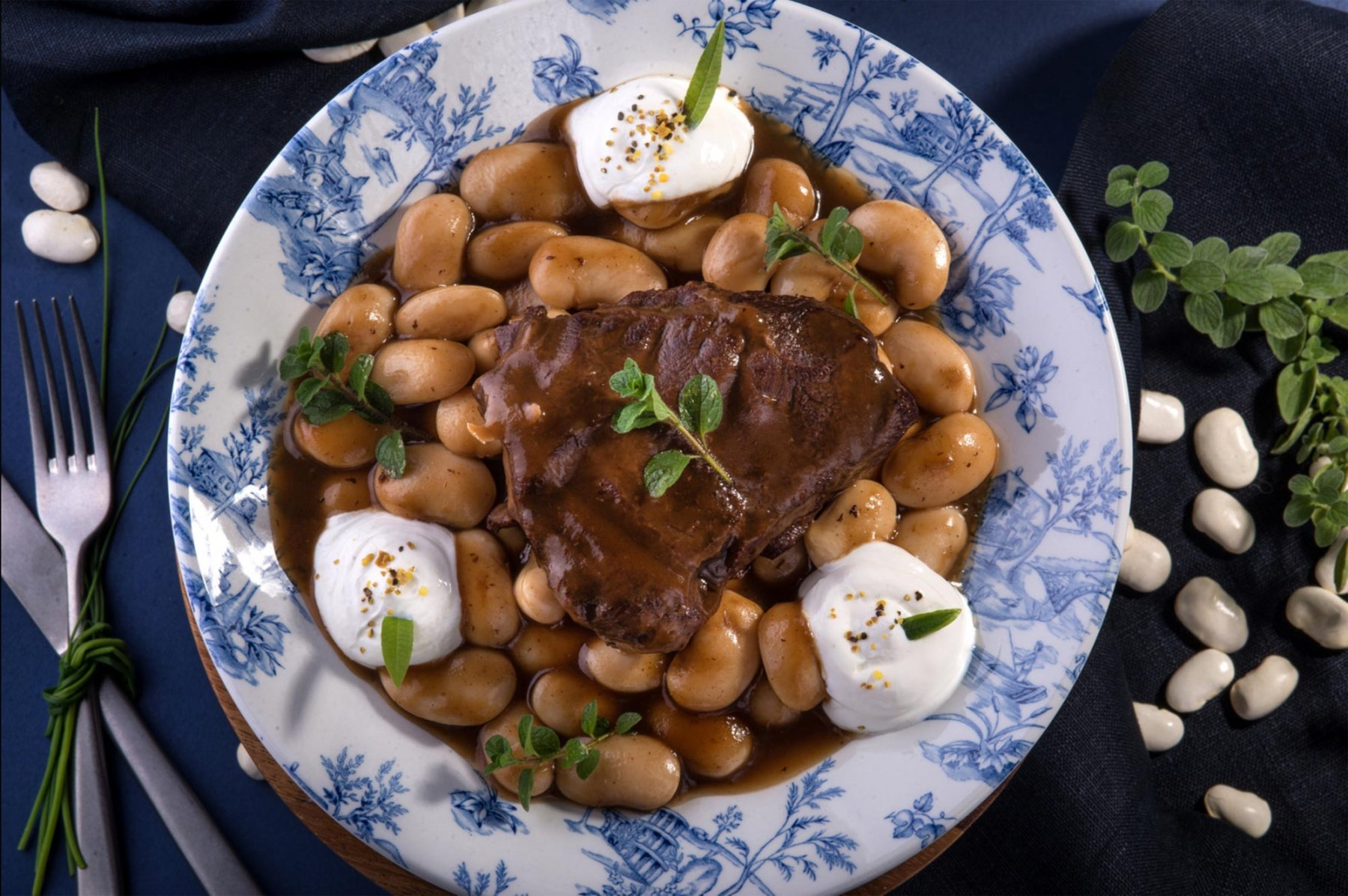 VEAL CHEEKS WITH BUTTER BEANS